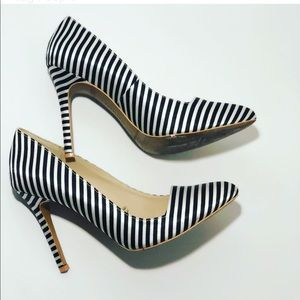 d89a84ba603 Forever 21 Shoes - FINAL Forever 21 black white stripe pumps size 8